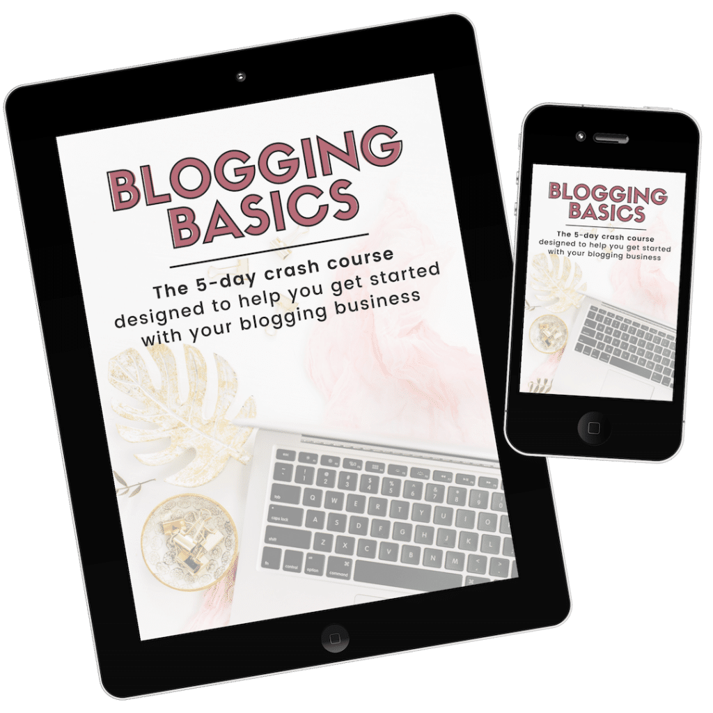 Blogging Basics Mockup