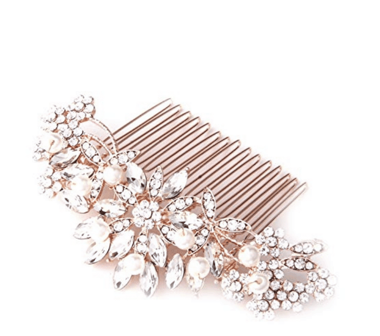 Rose gold hair combs are PERFECT for a rose gold flat lay. Check out 33 dazzling rose gold props for flat lay photography!