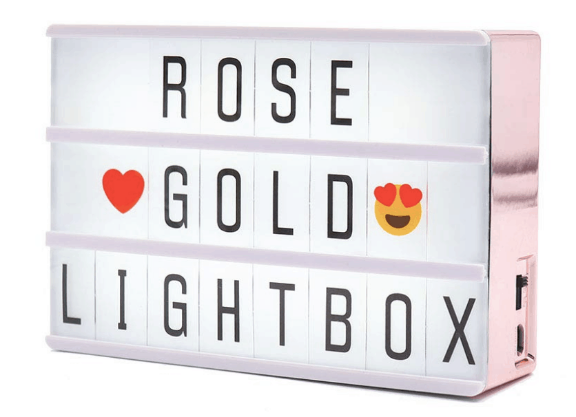 Rose gold lightboxes are PERFECT for a rose gold flat lay. Check out 33 dazzling rose gold props for flat lay photography!