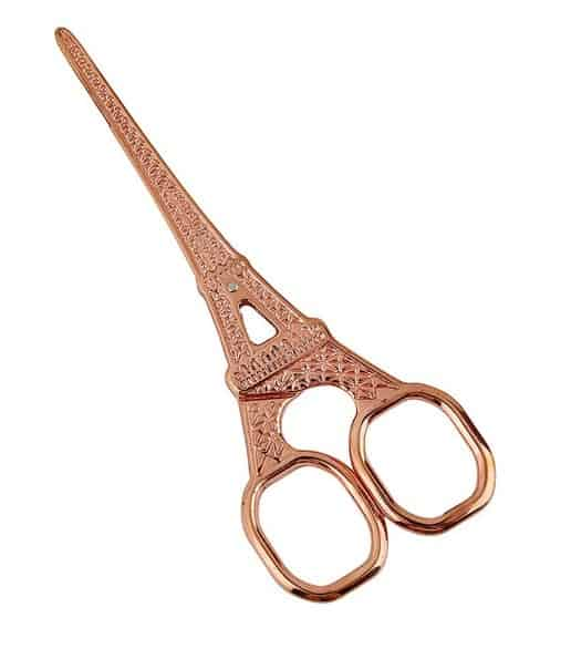 Rose gold Eiffel tower scissors are PERFECT for a rose gold flat lay. Check out 33 dazzling rose gold props for flat lay photography!