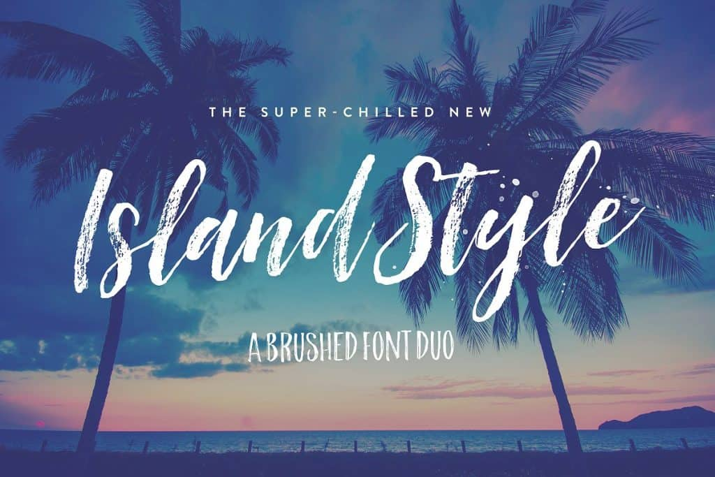 Island Style brushed font duo on Creative Market. Check out 25 Gorgeous Font Duos That Will Instantly Transform Your Brand!