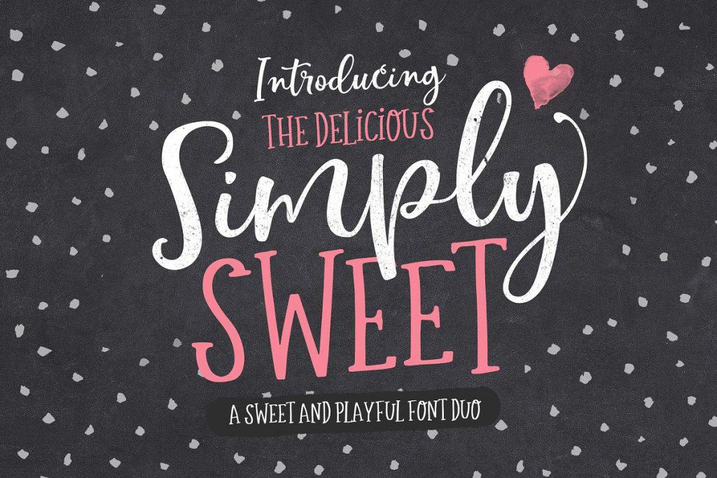 Simply Sweet font duo on Creative Market. Check out 25 Gorgeous Font Duos That Will Instantly Transform Your Brand!