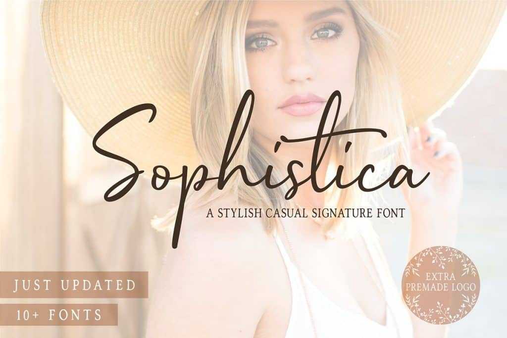 Sophistica font duo on Creative Market. Check out 25 Gorgeous Font Duos That Will Instantly Transform Your Brand!
