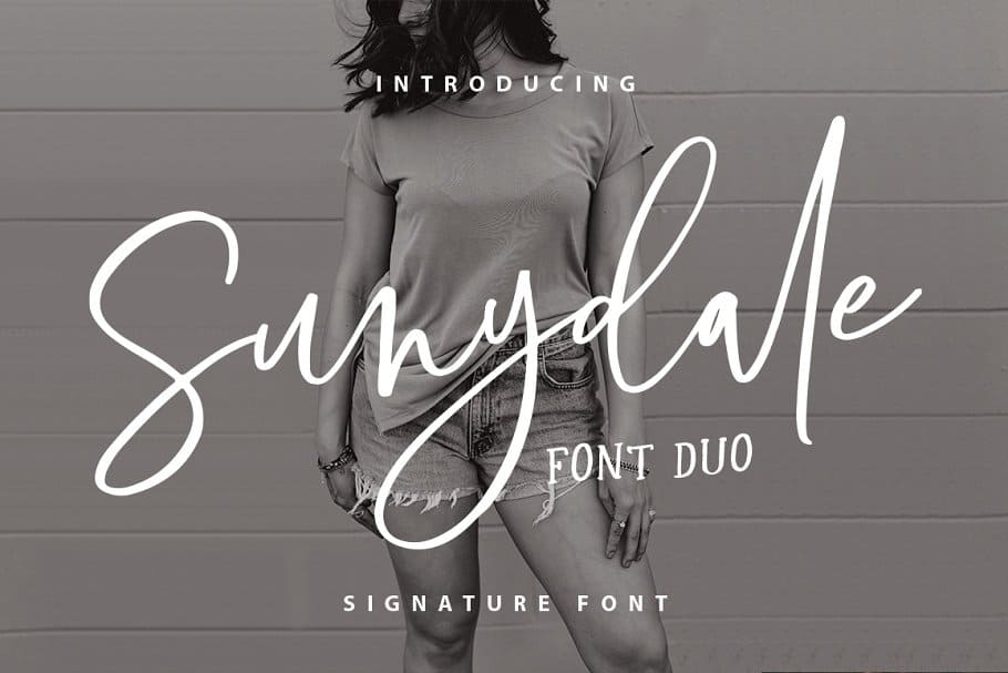 Sunydale font duo on Creative Market. Check out 25 Gorgeous Font Duos That Will Instantly Transform Your Brand!