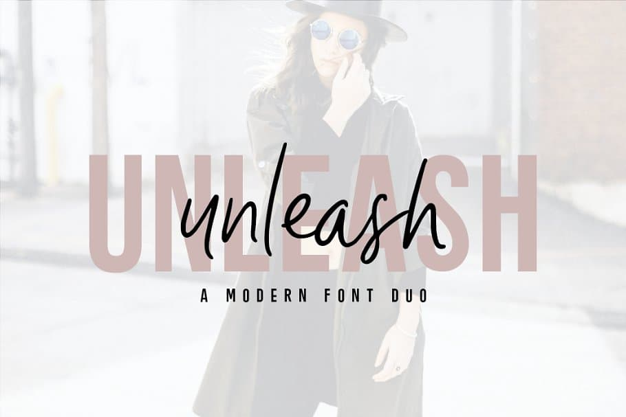 Unleash modern font duo on Creative Market. Check out 25 Gorgeous Font Duos That Will Instantly Transform Your Brand!