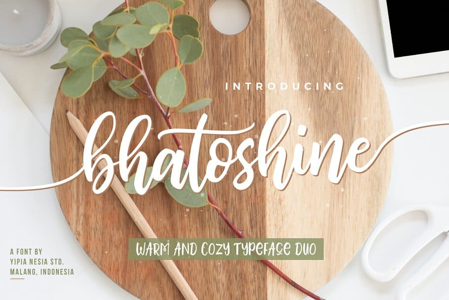 Bhatoshine font duo on Creative Market. Check out 25 Gorgeous Font Duos That Will Instantly Transform Your Brand!