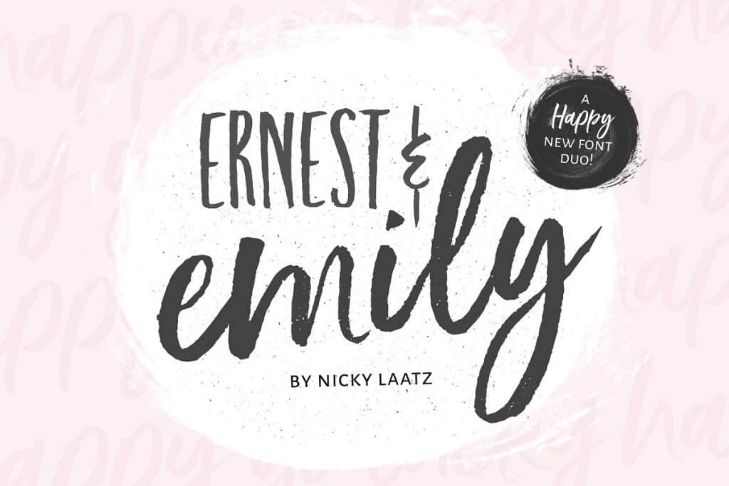 Ernest & Emily font duo on Creative Market. Check out 25 Gorgeous Font Duos That Will Instantly Transform Your Brand!