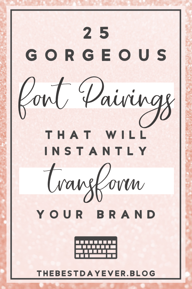Take the guesswork out of choosing which fonts work together with these incredible pre-made font duos and instantly transform your brand today!  #FontDuos #FontPairing #GraphicDesign #Typography #Branding