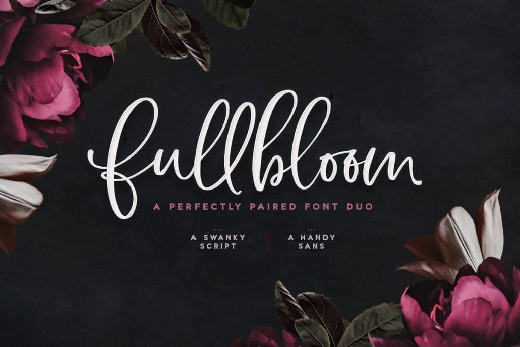 Fullbloom font duo on Creative Market. Check out 25 Gorgeous Font Duos That Will Instantly Transform Your Brand!