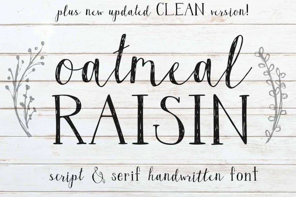 Oatmeal Raisin handwritten font duo on Creative Market. Check out 25 Gorgeous Font Duos That Will Instantly Transform Your Brand!